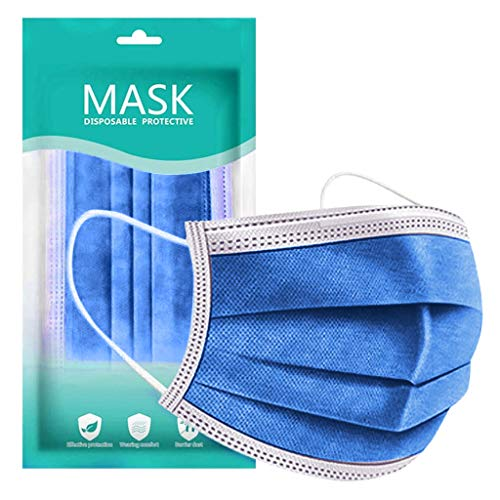 New 3 Ply Non-Woven, Disposable Face Bandanas, Cloth Covering -No Washable -for Adults Daily