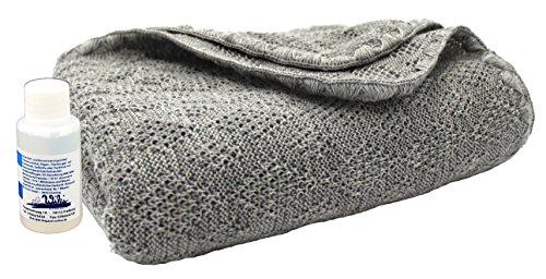 Disana Woll-Babydecke 80 x 100 cm aus Merino-Schurwolle kbT, grau inkl. Feinwaschmittel Wiki