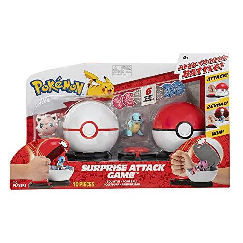 Pokemon Surprise Attack Game - Squirtle w/ Poké Ball vs. Jigglypuff #2 w/ Premier Ball