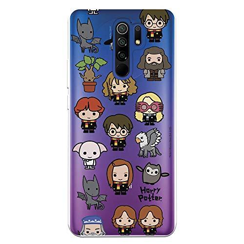 Funda para Xiaomi Redmi 9 Oficial de Harry Potter Personajes Iconos para Proteger tu móvil. Carcasa para Xiaomi Redmi 9 de Silicona Flexible con Licencia Oficial de Harry Potter.