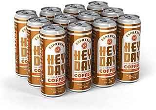 HEYDAY | Cold-Brew Coffee | Espresso | Fair Trade Certified | Non-GMO | 11oz (12 Count)