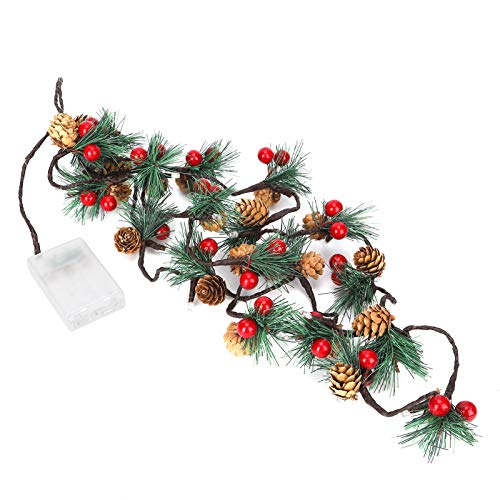 6.6ft 20LED Fairy Garland Pine Cones String Lights for Xmas Wreath Tree Garland Decoration New Year Decor