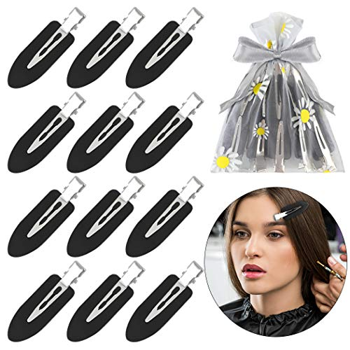 No Bend Hair Clips Fascigirl 12PCS No Crease Hair Clips for Women Creaseless Styling Curl Pin Clips for Makeup Hairstyle