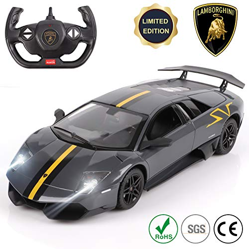 Remote Control Car Lamborghini Officially Licensed 1:14 Model Kids Toys for Boys and Girls Gifts Best Birthday, 2.4Ghz Radio Controlled Vehicle Electronic Toy Car Sports Racing- BLACK