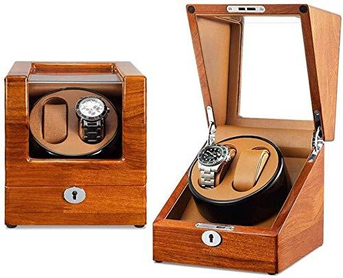 Mira enrollador automático Reloj Automático De La Devanadera Recuadro 2 Relojes De Almacenamiento Display Box 4 Modos De Rotación 2 Potencia Métodos De Suministro Mira las devanaderas ( Color : A )