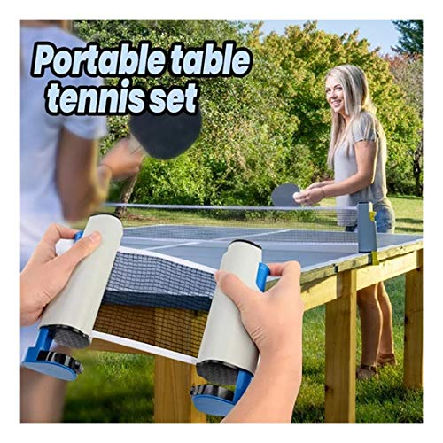 Read About Jeeke Portable Indoor Games Retractable Table Tennis Ping-Pong Net Kit Replacement Set Te...