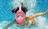 Hiki Ziki Adult Safe Swimming Snorkel Anti Fog Full-face Mask { Multicolour }