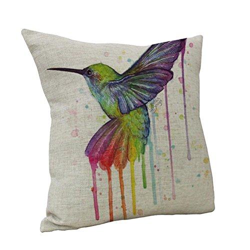 Nunubee Startseite Dekorative Kissen Vogel Sofa Kissenbezug Dekokissen vogelkäfig deko Vintage Kopfkissenhülle dekokissen mit blumenmotiv (Art C)