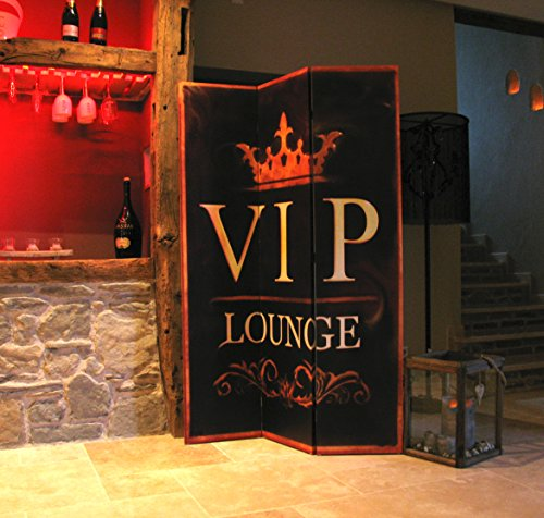 GRASEKAMP Qualität seit 1972 Paravent 3tlg Raumteiler Trennwand VIP Lounge Antik