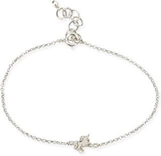 Dogeared Womens The Lucky Charm Bracelet, Unicorn Charm On Chain