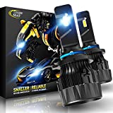 Cougar Motor X-Small 9006 LED Headlight Bulb, 10000Lm 6500K (HB4) All-in-One Conversion Kit - Cool White CREE