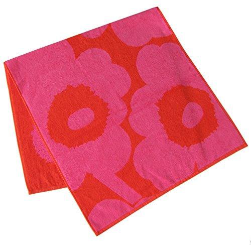 Marimekko - Unikko - Handtuch - Rot/Pink - 50x100cm