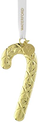 Waterford Candy Cane Golden Ornament