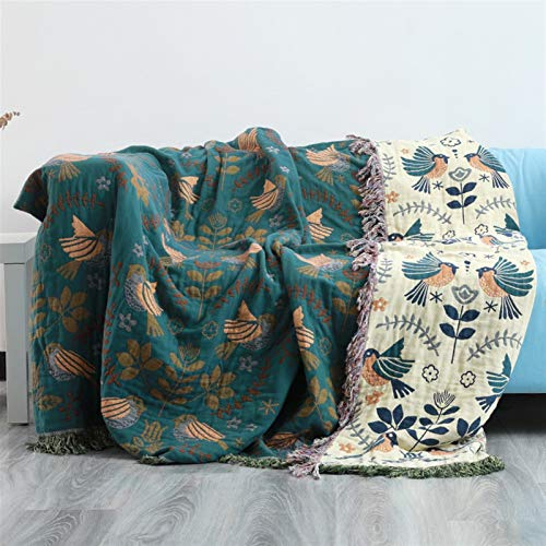 Mantas para sofa, Sofá almohadilla de moda Mantas de la toalla de polvo para la oficina de sofá de la oficina Bohemia Bohemia Sofá de algodón puro Sofá Manta All Temporada Geometría Manta con Mangas