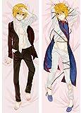 Dennieke Taies d'oreillers décoratives Dakimakura Hunter x Hunter Anime Killua & Kurapika Hugging Body Pillow Cover Case BL Anime Pillowcases Dropship Bedding Covers 150x50cm Peach Skin