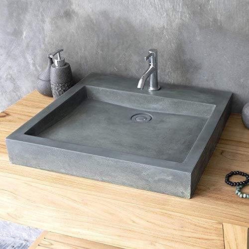 Magnus Home Products Belzoni Rectangular Cast Concrete Vessel Bathroom Sink, Copper Green, 19 3/4' L x 17 7/8' W, 57.0 lb
