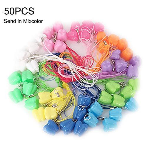 FIRLAR - Contenitore per dentini per bambini (50 pezzi, colore casuale, 2 x 1,8 cm)