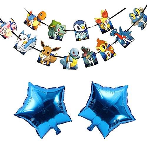 Cumpleaños Pokemon - ZSWQ Pikachu Fiesta Globos Helium Foil Globos Pokemon Pikachu Globos de Fiesta Aluminio Globo para Decoración de Fiesta de Pokemon Team
