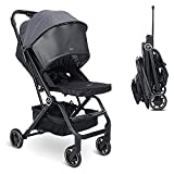 Wheelive Lightweight Baby Stroller, One Hand Easy Fold Compact Travel Stroller with Reclining Seat and Sleep Shade - Infant Stroller for Airplane and More