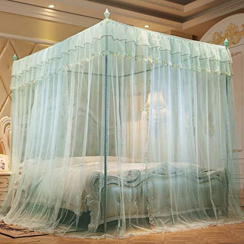 #N/V Mosquitera de tres puertas abiertas princesa viento soporte de piso encriptación engrosada 1.5 Court 1.8M1.2 M cama doble hogar