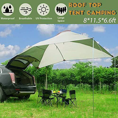 BLJS Acampar al Aire Libre Car Tail Carpa de Remolque Toldo Sun Shelter Auto SUV Toldo Toldo Cubierta Tienda Techo Top Camping Peg Soportes Cuerda,Aluminum Alloy Rod