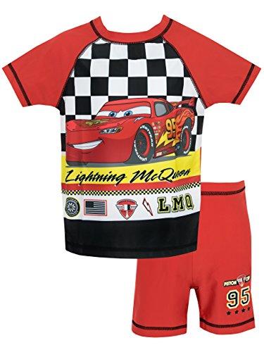 Disney Cars - 2 Pezzi Costume da Bagno (McQueen) per Bambino (5-6 anni, Multicolore)