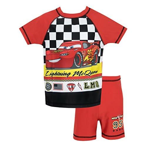 Disney Cars - Ragazzi Due Pezzi Costume da Bagno - Lightning McQueen - 4-5 Anni