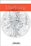 Poster 61 x 91 cm: Marburg Karte Kreis von Campus Graphics