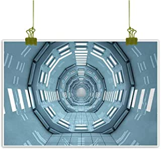 Mannwarehouse Outer Space Modern Frameless Painting Spaceship Earth Corridor Adventure to Cosmos UFO Lands Travel Architecture Walls Bedroom Bedside Painting 28