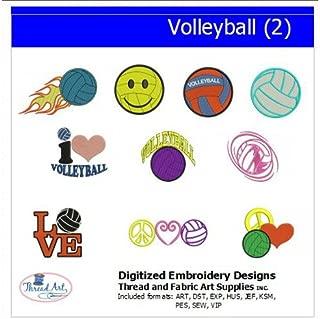 Threadart Machine Embroidery Designs - Volleyball(2) - USB Stick