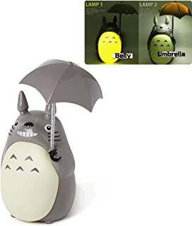 Totoro Anime LED Night Light Kid's Character Lamp USB Charge, Desk Night Table Reading Lamp