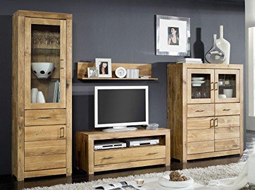Main Möbel Wohnwand \'Verona\' Wildeiche massiv