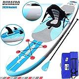 Tabla Hinchable Paddle Surf Sup Paddel Surf Bomba, Asiento de Kayak, Integrado Kick-Pad, 3 Finnen, 3-teiliges Paddel, Komplettes accesorios, 305 x 76 x 15 cm, hasta 110 kg