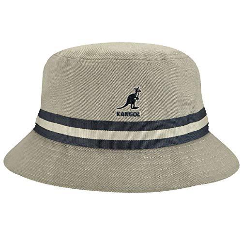 Kangol Headwear Herren Stripe Lahinch Fischerhut, Grau (Grey), Small