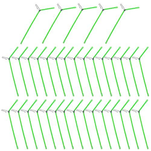 Johiux 35 StüCke Feederrute, AngelzubehöR,Feederrute,Karpfen ZubehöR,Fishing Anti-Tangle Boom Sleeves Set,Abstandshalter Durchlauf-RöHrchen Zum Feedern, Zum Karpfenangeln Verwendet