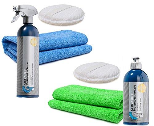 Koch Chemie Leather Care 500ml Lederreinigung / Lederpflege / Ledersitzepflege 6tlg. Großer Basic-Set …