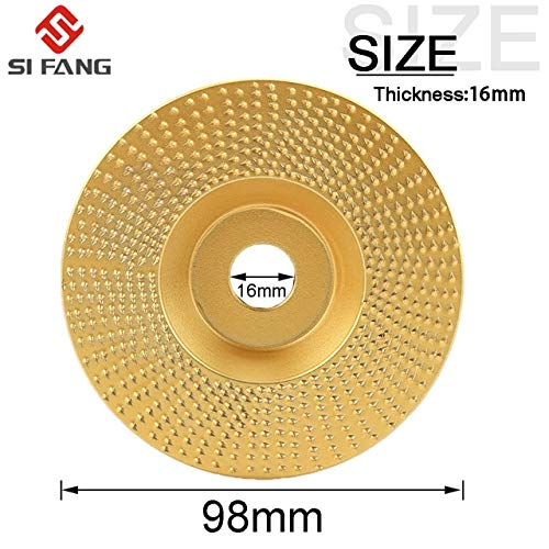 Find Discount Xucus Wood Grinding Wheel Angle Grinder Wood Carving Disc Sanding Abrasive Tool For Angle Tungsten Carbide Coating Bore Shaping 5 shap – (Color: C)