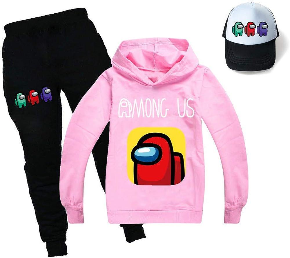 Pantalones de tres piezas con capucha y sombrero de sol Among Us sudadera con capucha y ch/ándal