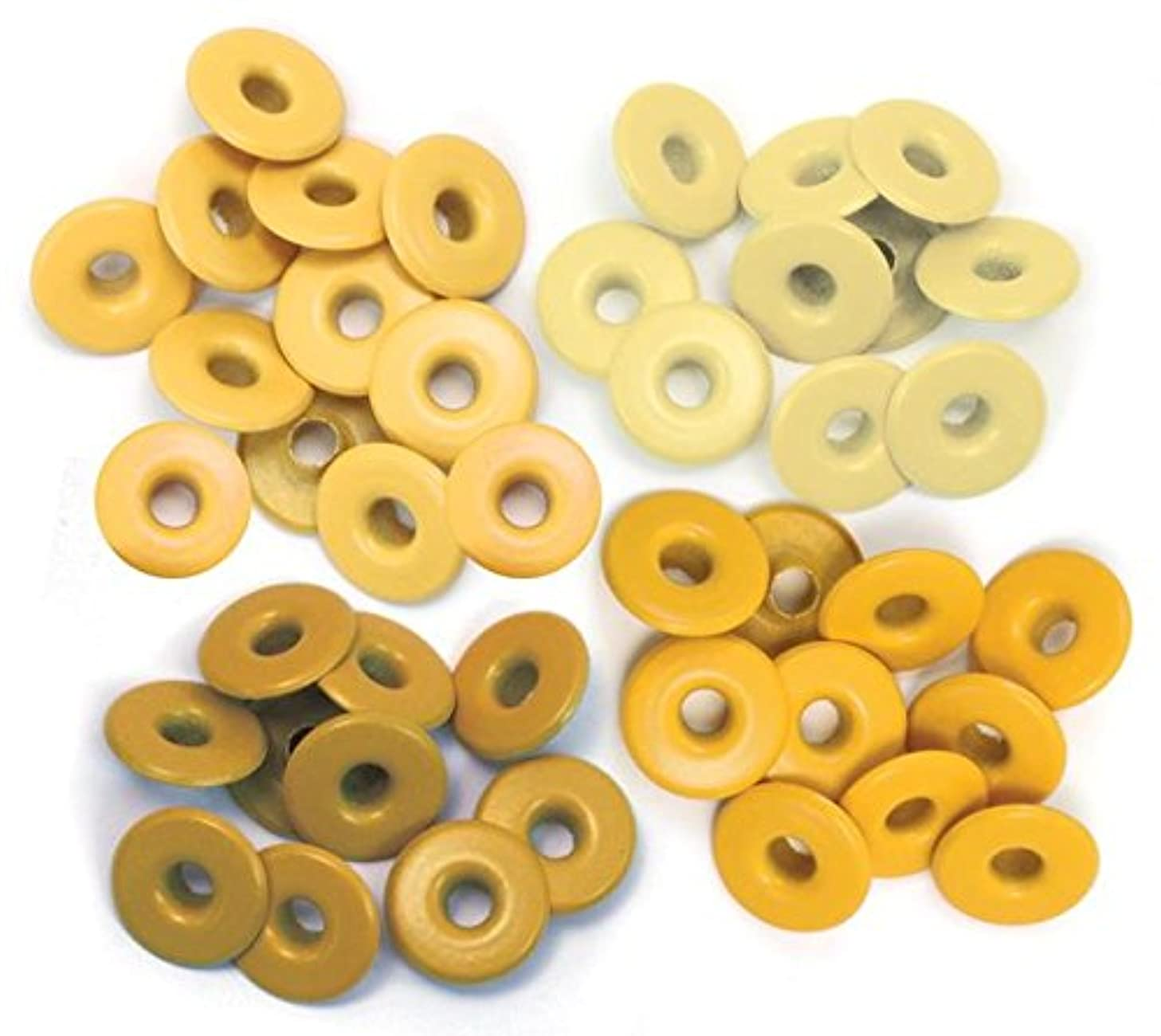 We R Memory Keepers 41587-9 Eyelets for Scrapbooking, Wide, Yellow