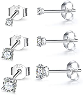 Diamond Wish Rose Plated Sterling Silver Triangle Weave Fashion Stud Earrings