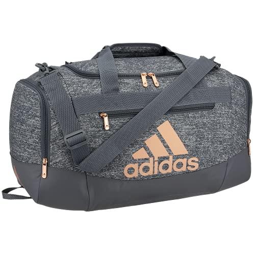 adidas Defender 4 Small Duffel Bag, Borsa da Viaggio Unisex-Adulto, Maglia Onix Grigio/Oro Rosa/Onix Grigio, Taglia unica