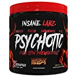 Insane Labz Hellboy Edition, High Stimulant Pre Workout Powder and NO Booster with Beta Alanine, L Citrulline, and Caffeine, Boosts Focus, Energy, Endurance, Nitric Oxide Levels, 35 Srvgs (Lemonade)