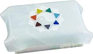 Art Glass tarot boxe White 7 Chakras Lotus
