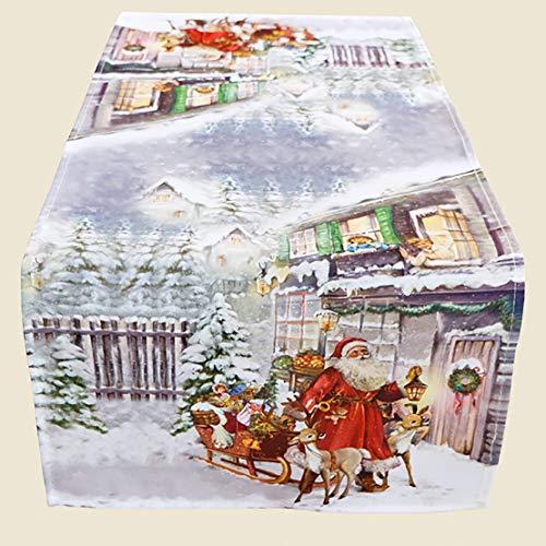 Kamaca Serie Christmas Time hochwertiges Druck-Motiv mit weihnachtlichem Motiv Eyecatcher in Winter Weihnachten (Tischläufer 40x90 cm)