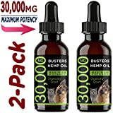K2xLabs |30,000 MG 2-Pack| Busters Organic Hemp Oil for Dogs & Cats - Max Potency - Made in USA - Omega Rich 3, 6 & 9 - Hip & Joint Health, Natural Relief for Pain, Separation Anxiety