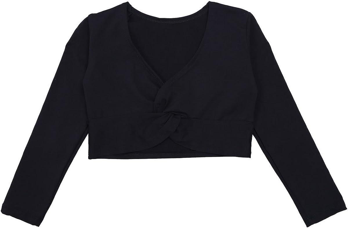 Aislor Kids Girls Long Sleeve Cotton Warm-up Knit Wrap Tops Cardigan Sweater Coat