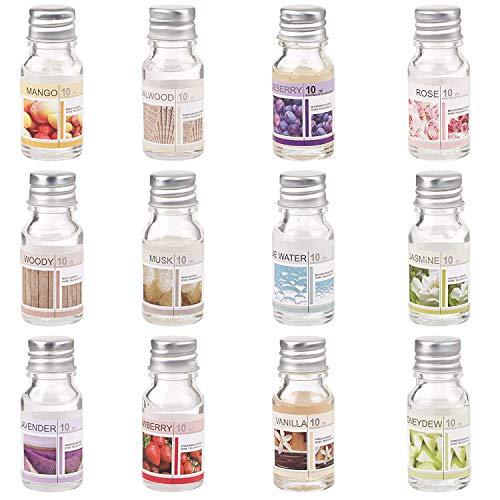 8 x Duftöl Set Ätherisches Öl, Raumduft für Duftlampe Diffuser als Aroma-Therapienöl: Blaues Wasser, Honigmelone, Jasmin, Lavendel, Moschus, Rosen,Erdbeere, Vanille