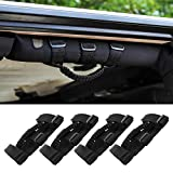 Savadicar 4 x Roll Bar Grab Handles Grip Handle for Jeep Wrangler YJ TJ JK JL & Gladiator JT 1955-2020, Interior Accessories, Black