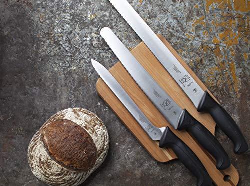 Mercer Culinary Millennia Bread Knife, 10-Inch Wavy Edge Wide, Black