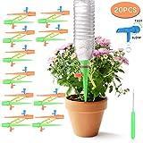 Colmanda Irrigazione a Goccia, 20 Pezzi Sistema di Irrigazione a Goccia Irrigatori Regolab...